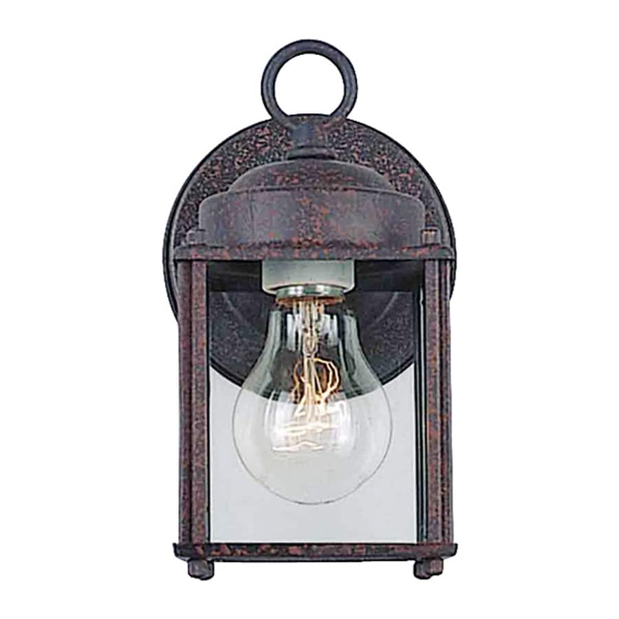 Volume International 8-in H Rust Outdoor Wall Light