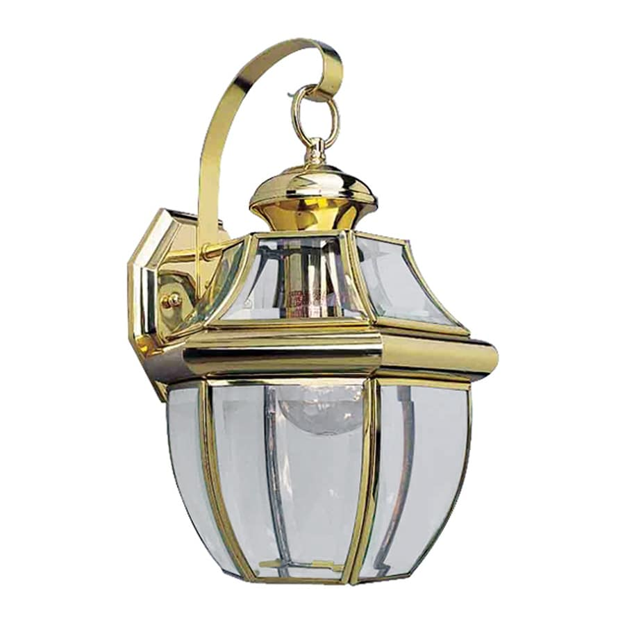 Volume International 14.5-in H Polished Brass Medium Base (E-26) Outdoor Wall Light