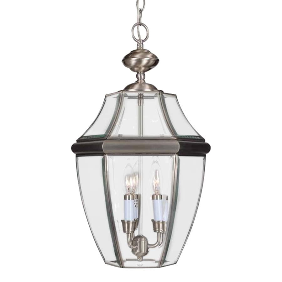 Volume International 21.5-in Brushed Nickel Outdoor Pendant Light