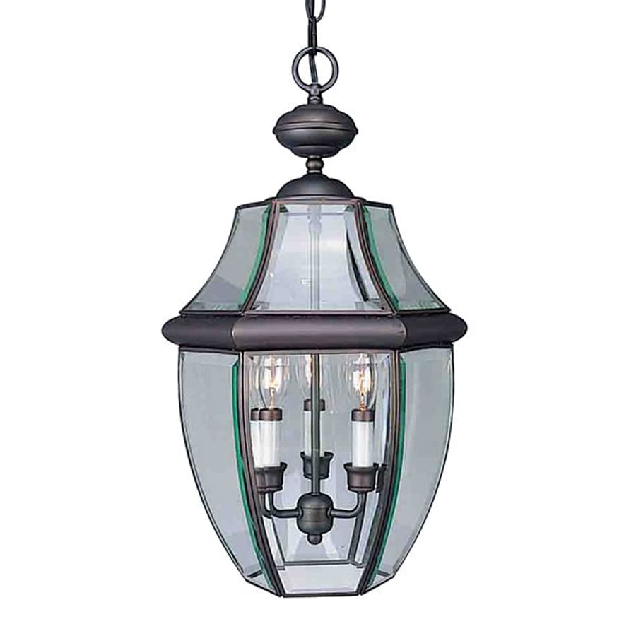 Volume International 21.5-in Antique Bronze Hardwired Outdoor Pendant Light