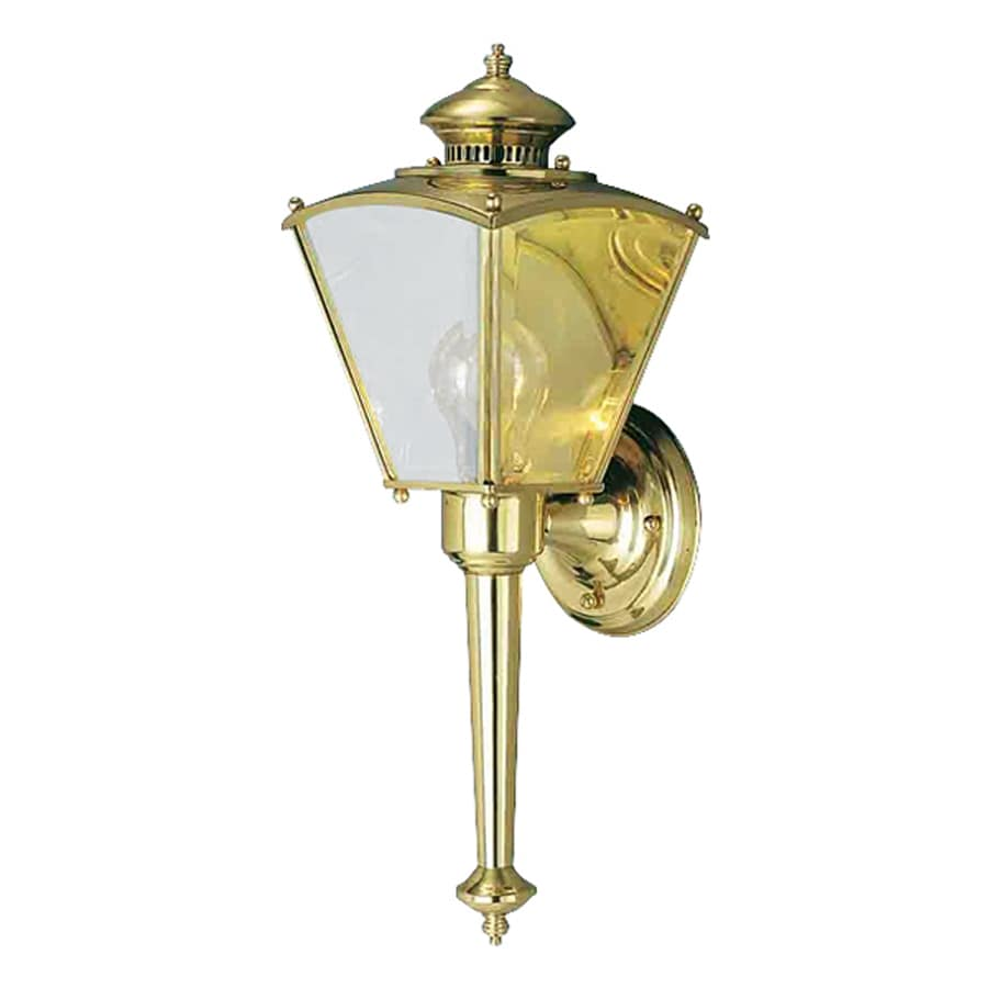 Volume International 18.34-in H Polished Solid Brass Outdoor Wall Light