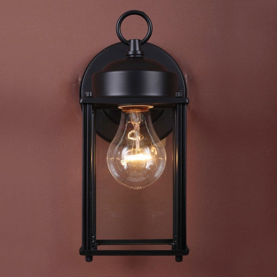 Volume International 9.5-in H Black Outdoor Wall Light