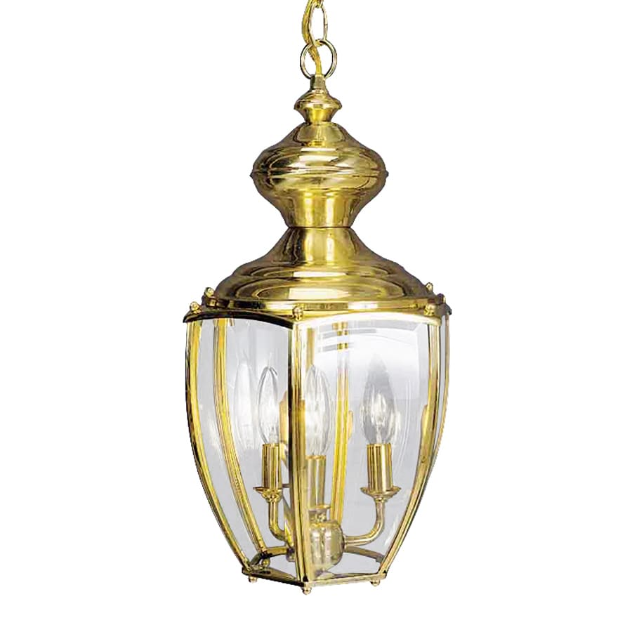 Volume International 17.75-in Polished Solid Brass Outdoor Pendant Light
