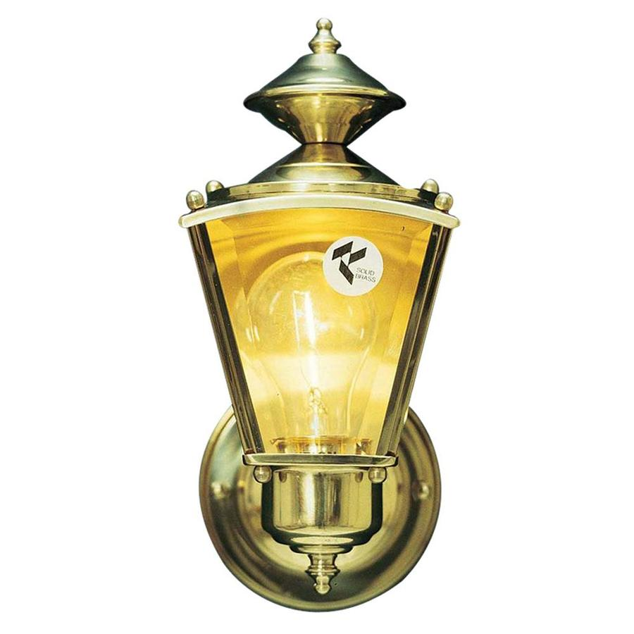 Volume International 8-in H Antique-Solid Brass Outdoor Wall Light