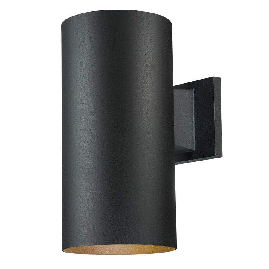 Volume International Down 12-in H Black Outdoor Wall Light