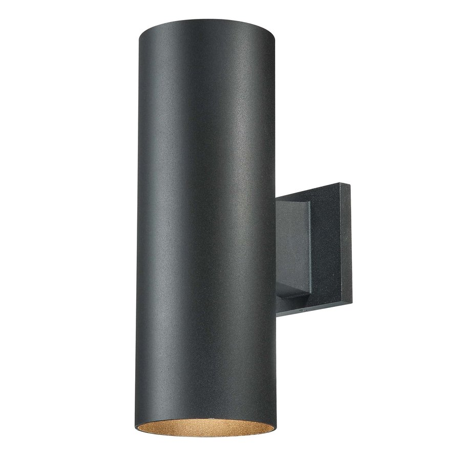 Volume International Down 14-in H Black Outdoor Wall Light