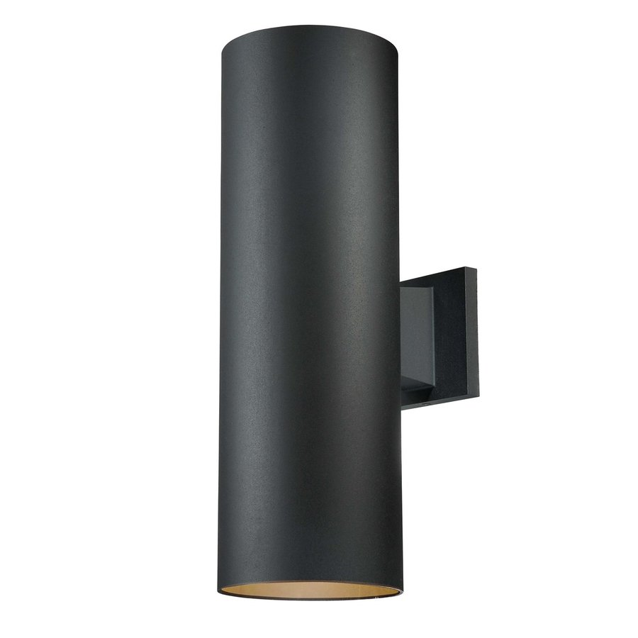 Volume International Down 18-in H Black Outdoor Wall Light