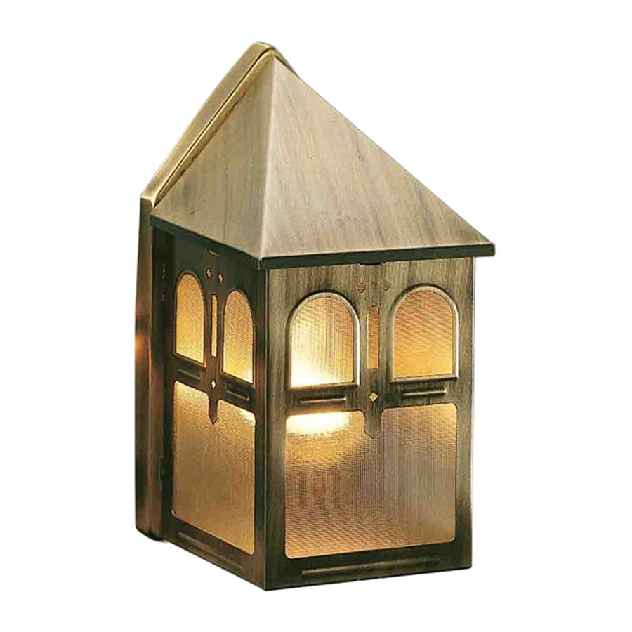 Volume International 8.5-in H Antique-Solid Brass Outdoor Wall Light