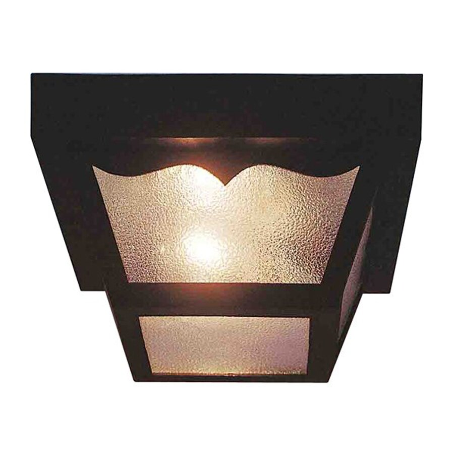 Volume International 8.25-in W Black Outdoor Flush-mount Light