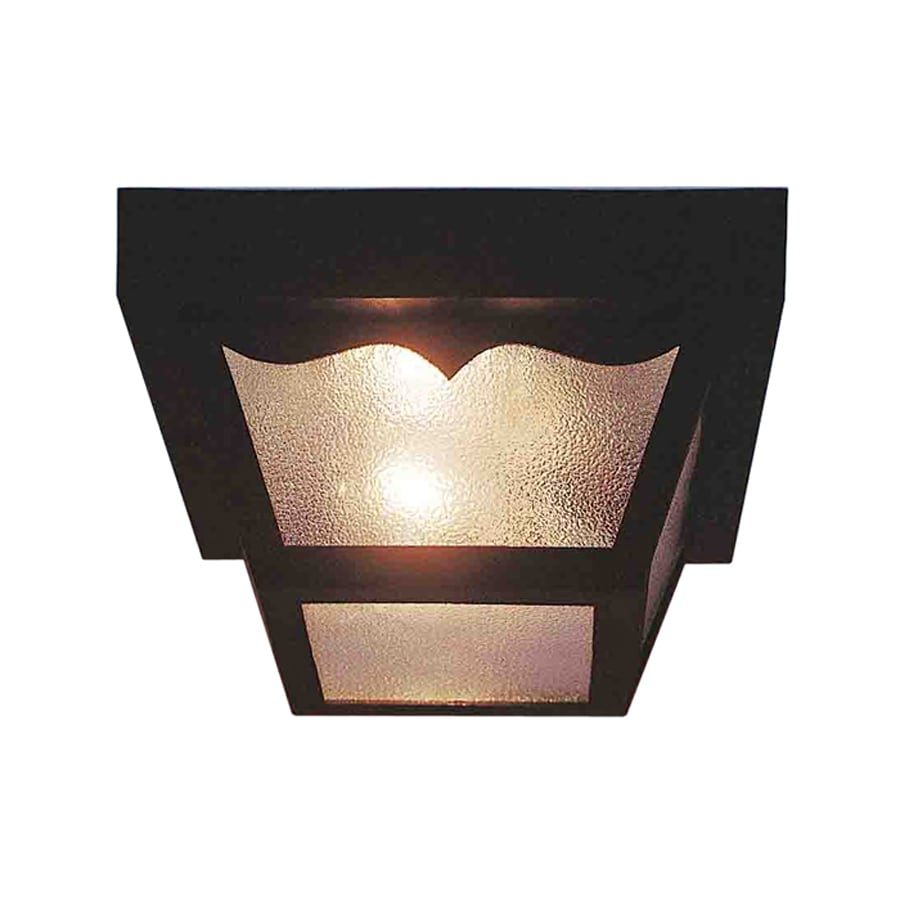 Volume International 10.25-in W Black Outdoor Flush Mount Light