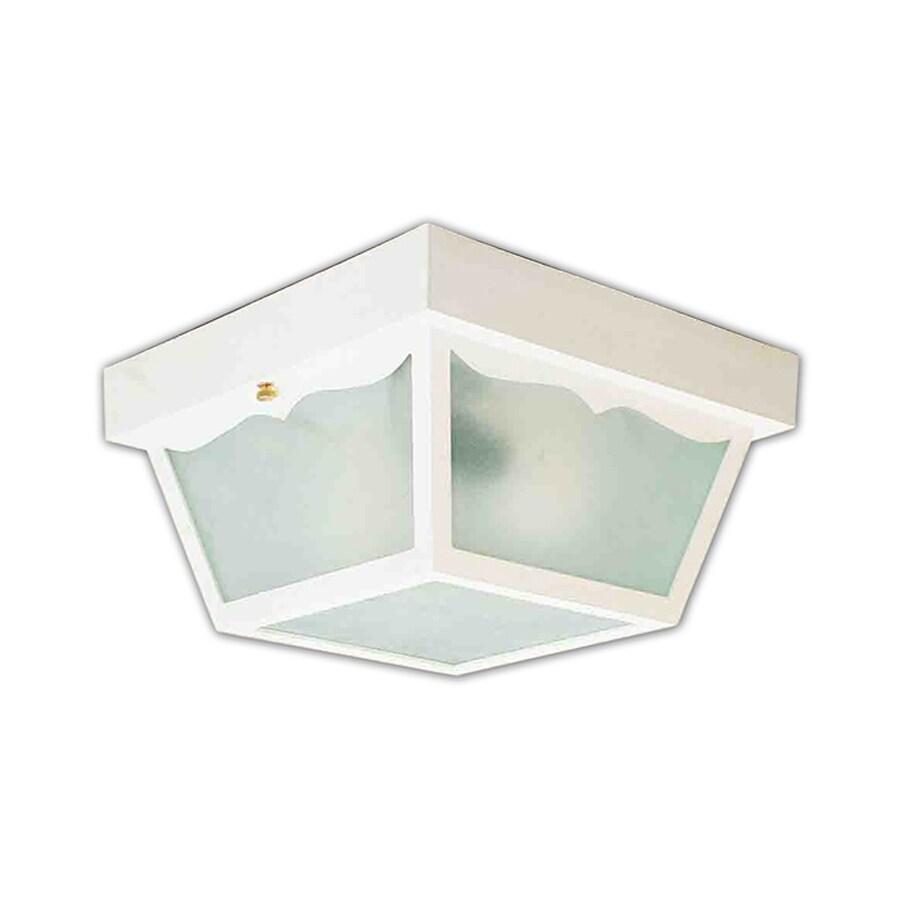 Volume International 10.25-in W White Outdoor Flush Mount Light