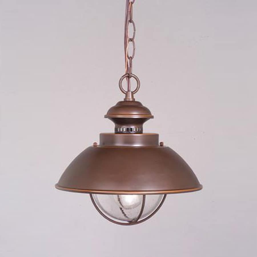 Cascadia Lighting Nautical 10.75-in Burnished Bronze Hardwired Outdoor Pendant Light
