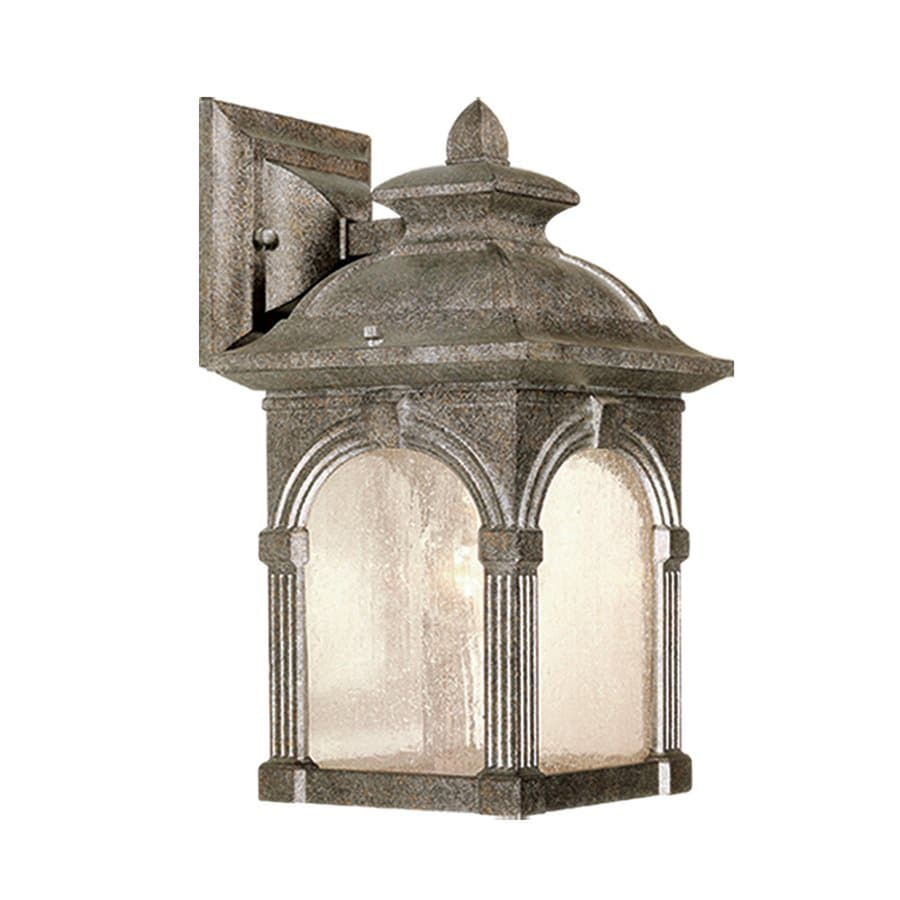 Cascadia Lighting Essex 13-in H Lava Stone Outdoor Wall Light