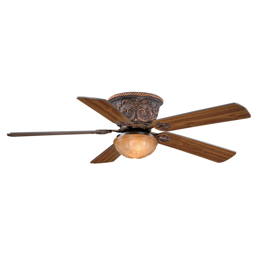 Ceiling Fans Mount: Shop Cascadia Lighting Corazon 52-in Aged Bronze Flush