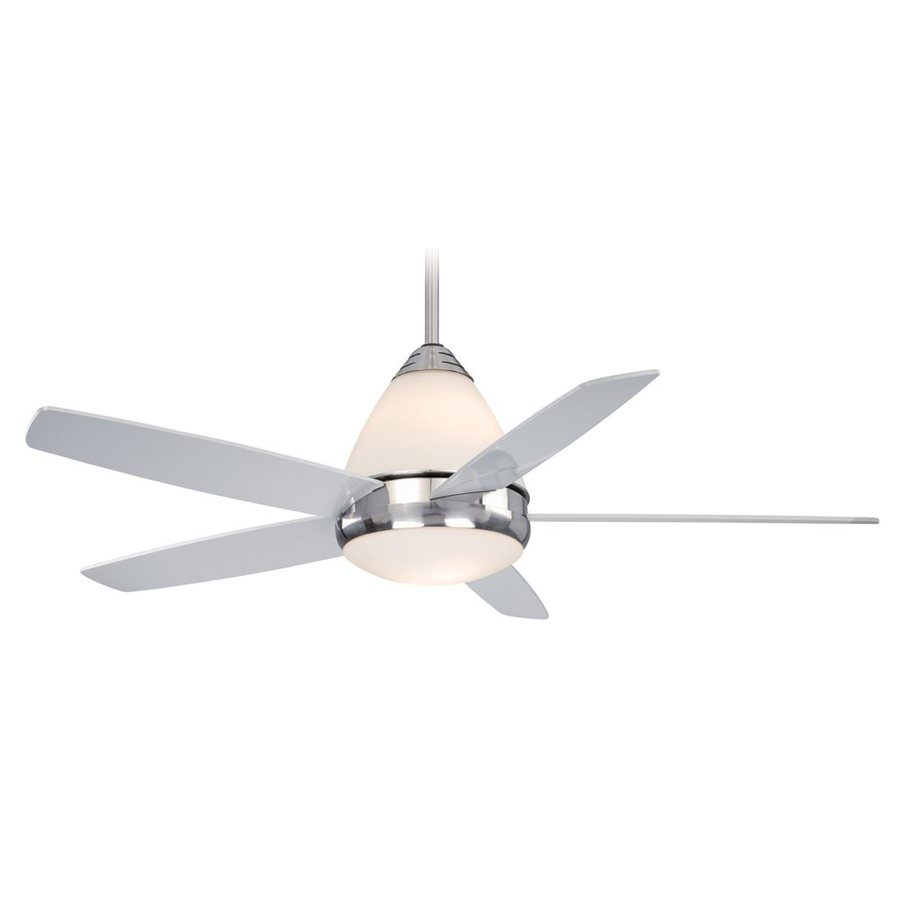 Cascadia Lighting Fresco Ii 52-in Satin Nickel Downrod Mount Ceiling Fan with Remote Control with Light Kit (5-Blade)