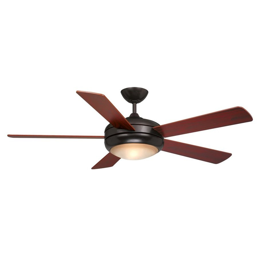 Cascadia Lighting Rialta 52-in Oil Burnished Bronze Downrod Mount Indoor Ceiling Fan with Light Kit and Remote (5-Blade)