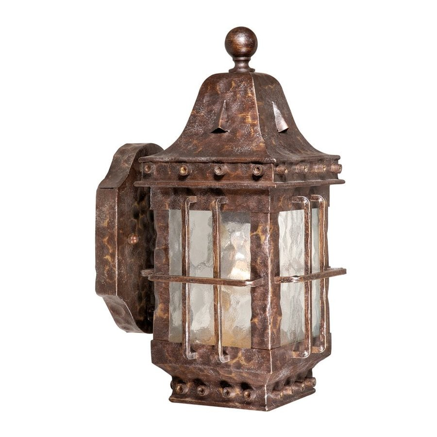 Shop cascadia lighting edinburgh 12 5 in h colonial iron for Outdoor colonial lighting