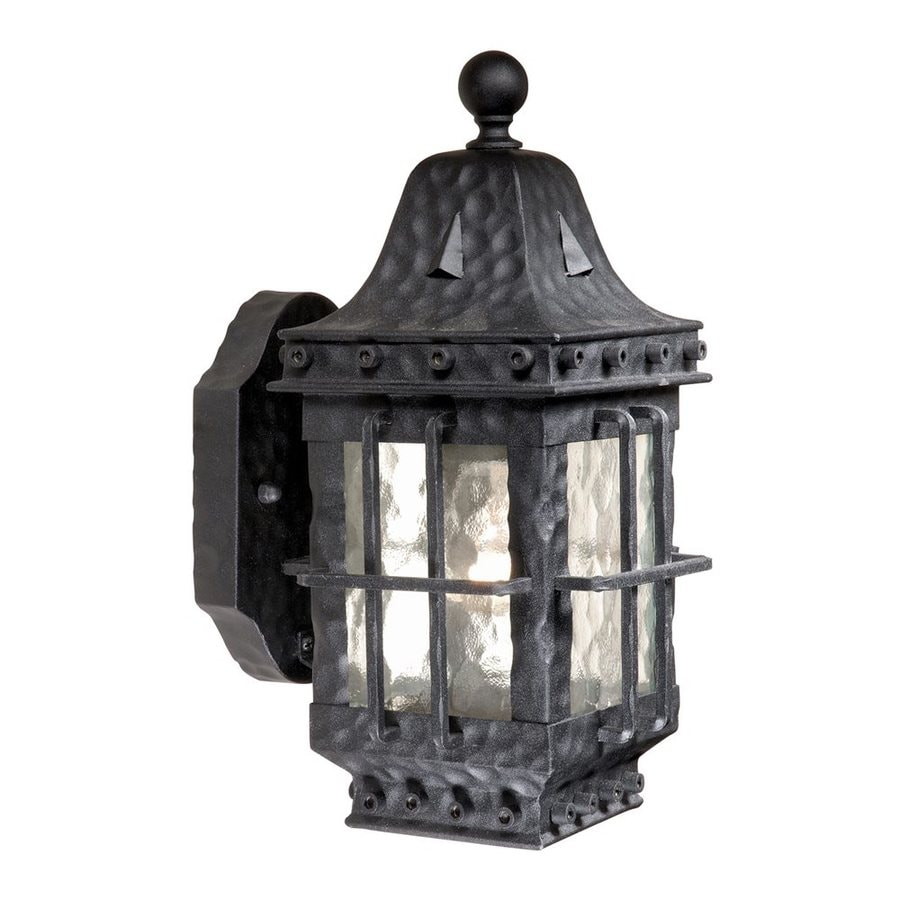 Cascadia Lighting Edinburgh 12.5-in H Textured Black Outdoor Wall Light