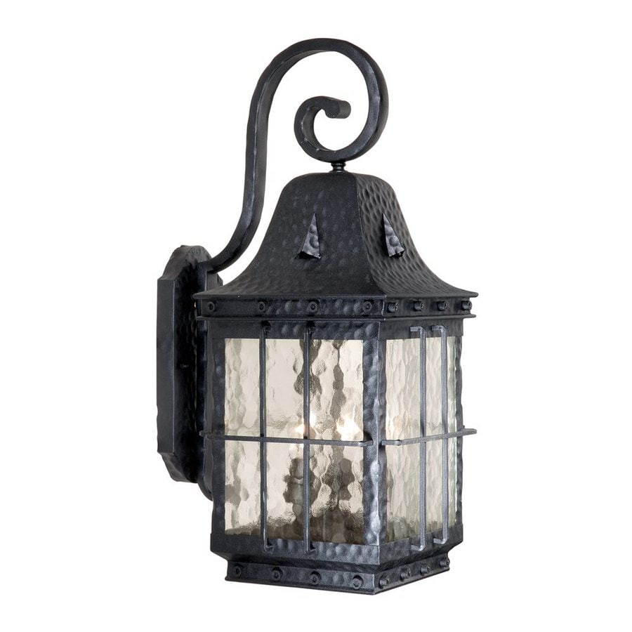 Cascadia Lighting Edinburgh 22.5-in H Textured Black Outdoor Wall Light
