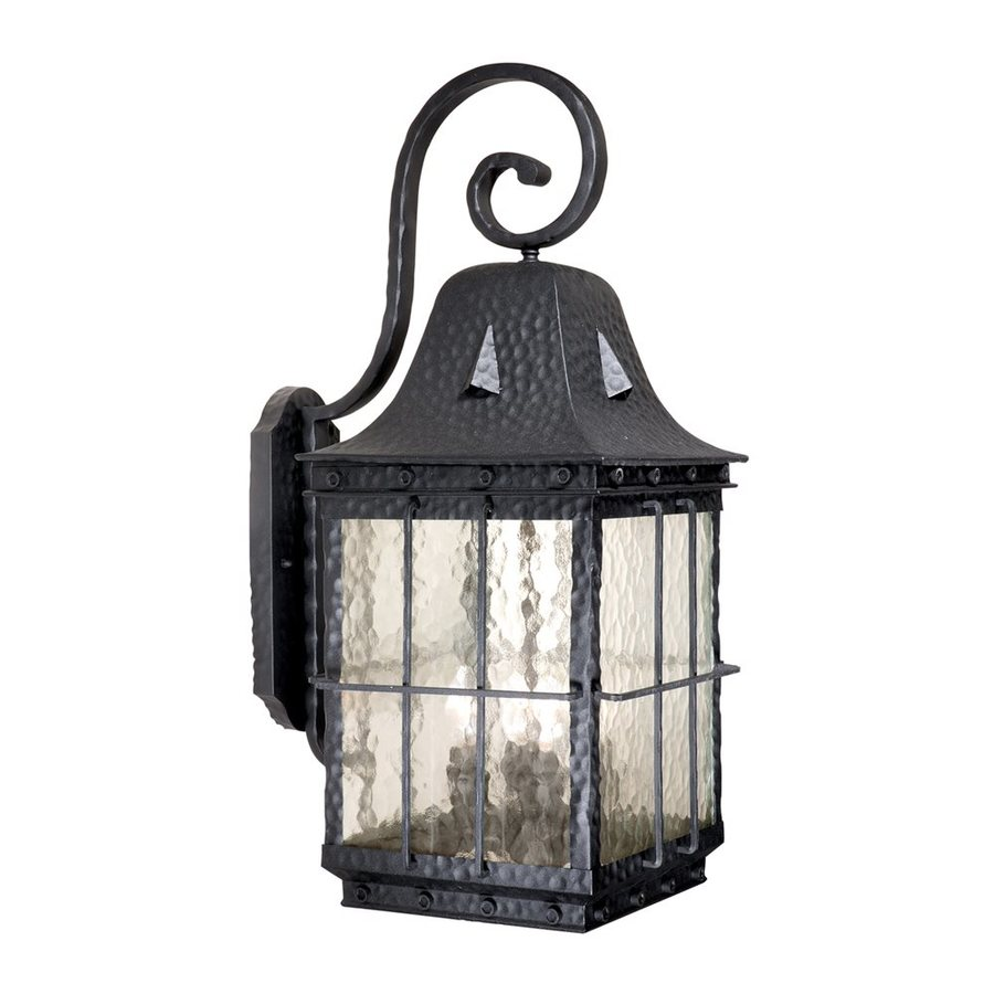 Cascadia Lighting Edinburgh 27-in H Textured Black Outdoor Wall Light