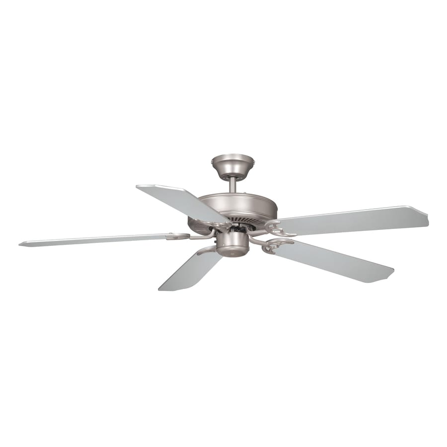 Cascadia Lighting Medallion 52-in Brushed Nickel Downrod Mount Indoor Ceiling Fan (5-Blade)