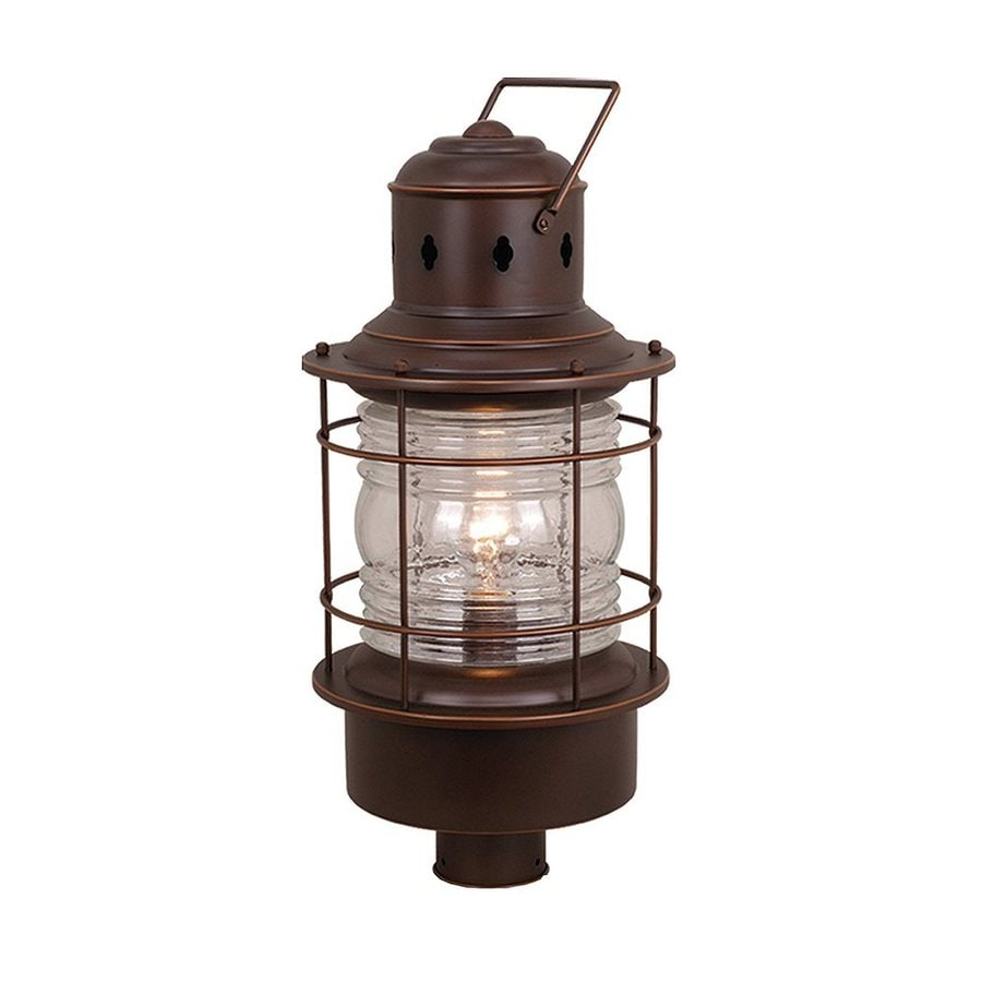 Cascadia Lighting Nautical 23-in H Burnished Bronze Post Light