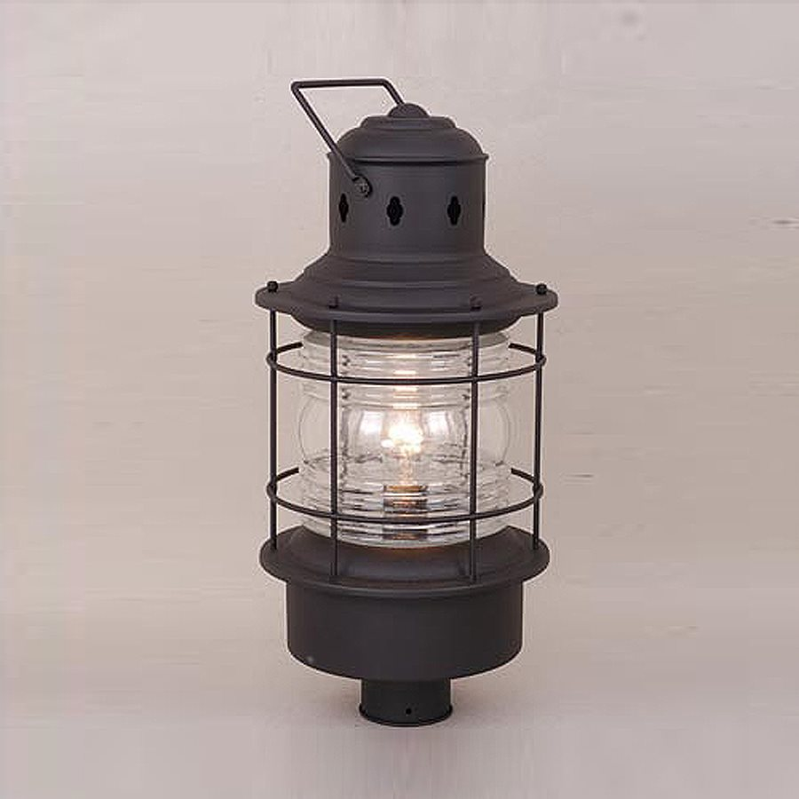 Cascadia Lighting Nautical 23-in H Textured Black Post Light