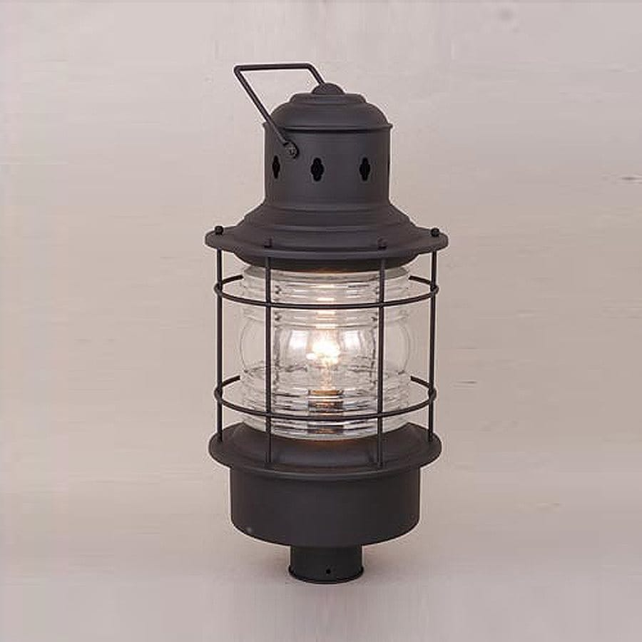 Shop cascadia lighting nautical 23 in h textured black post light at