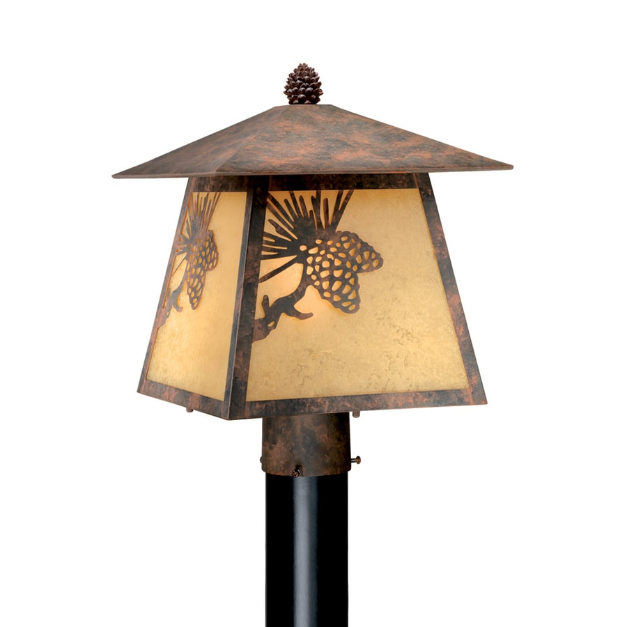 Cascadia Lighting Whitebark 13-in H Olde World Patina Post Light
