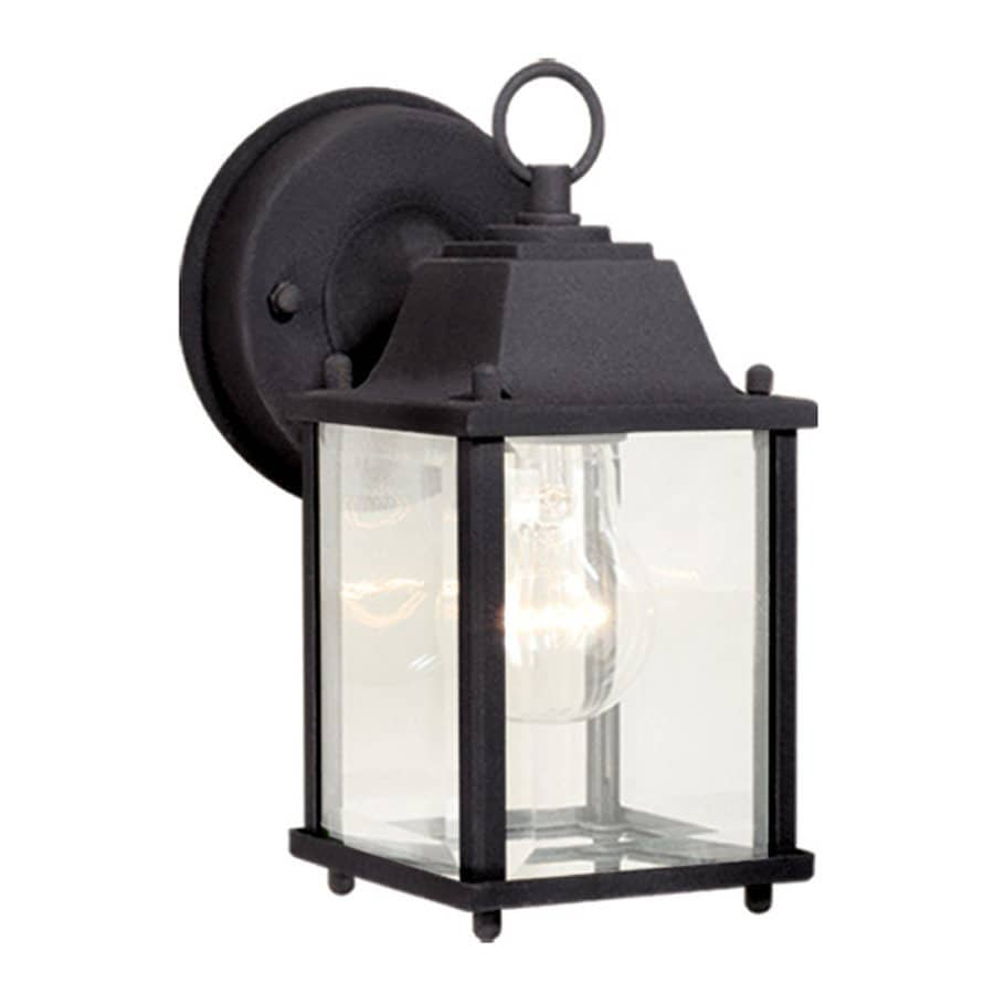 Cascadia Lighting Millard 8.5-in H Textured Black Outdoor Wall Light
