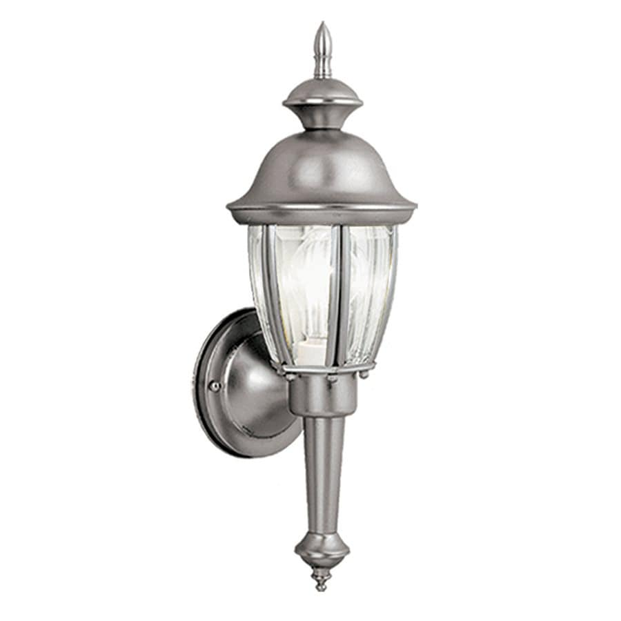 Cascadia Lighting Capitol 15.5-in H Brushed Nickel Outdoor Wall Light