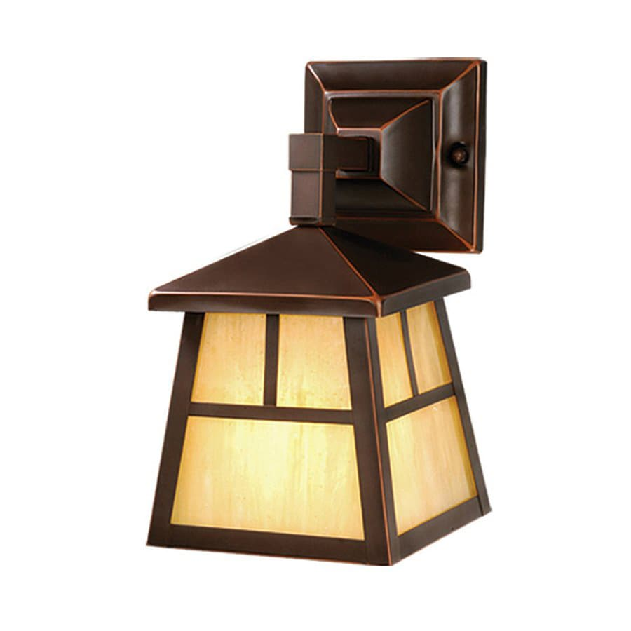 Cascadia Lighting Mission 10-in H Burnished Bronze Outdoor Wall Light