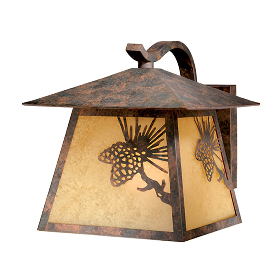 Cascadia Lighting Whitebark 12.5-in H Olde-World Patina Outdoor Wall Light