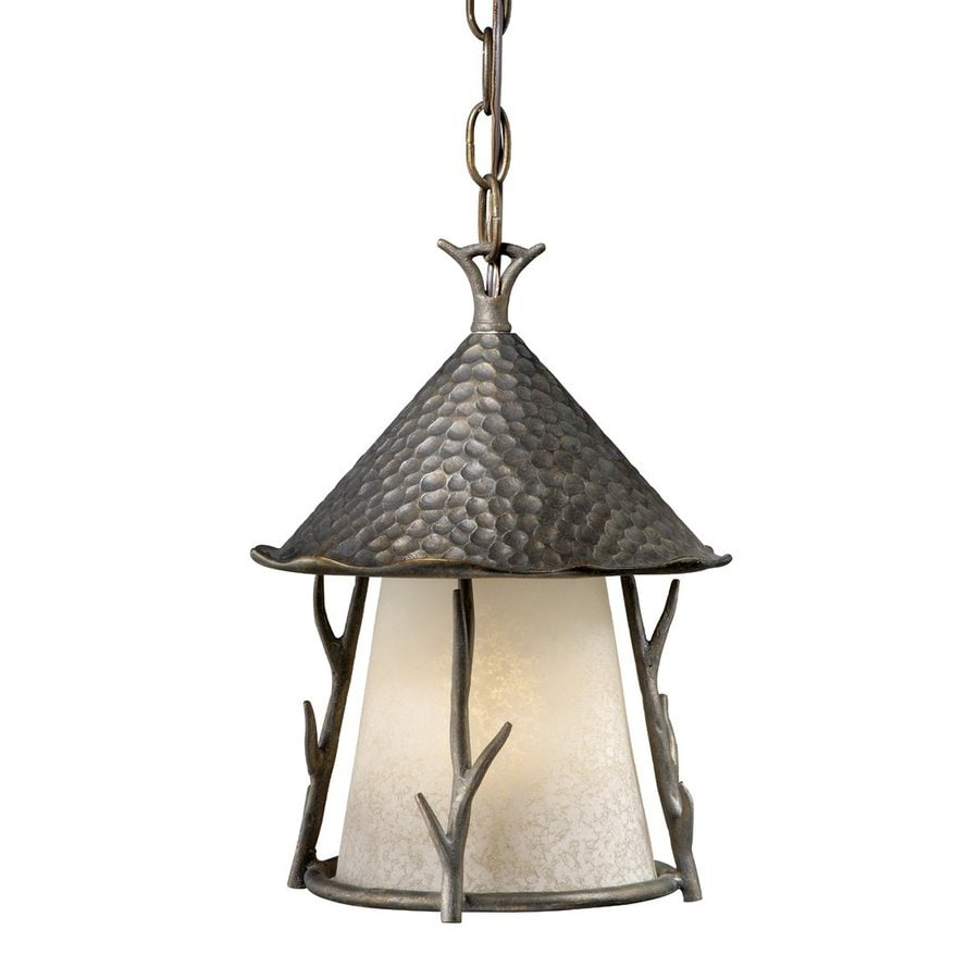 Cascadia Lighting Woodland 12.5-in Autumn Patina Hardwired Outdoor Pendant Light