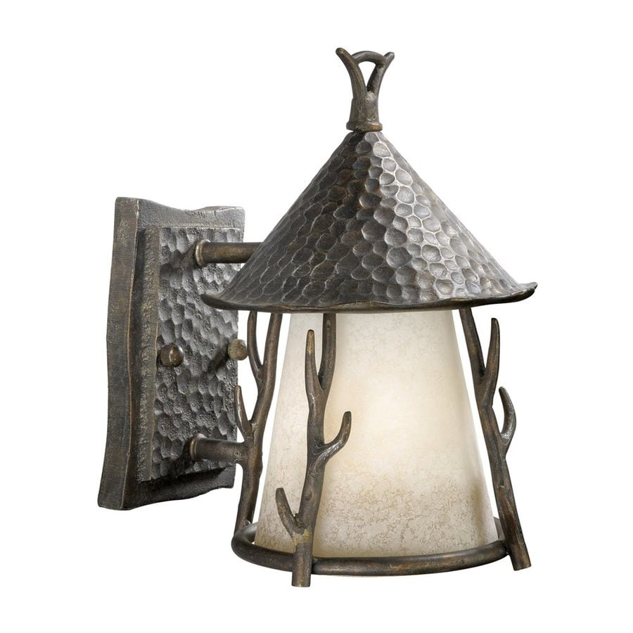 Cascadia Lighting Woodland 10.25-in H Autumn Patina Outdoor Wall Light