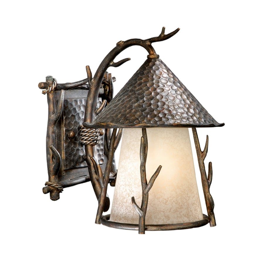 Cascadia Lighting Woodland 12-in H Autumn Patina Outdoor Wall Light
