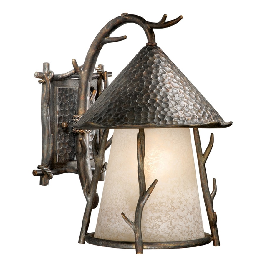 Cascadia Lighting Woodland 15.5-in H Autumn Patina Outdoor Wall Light
