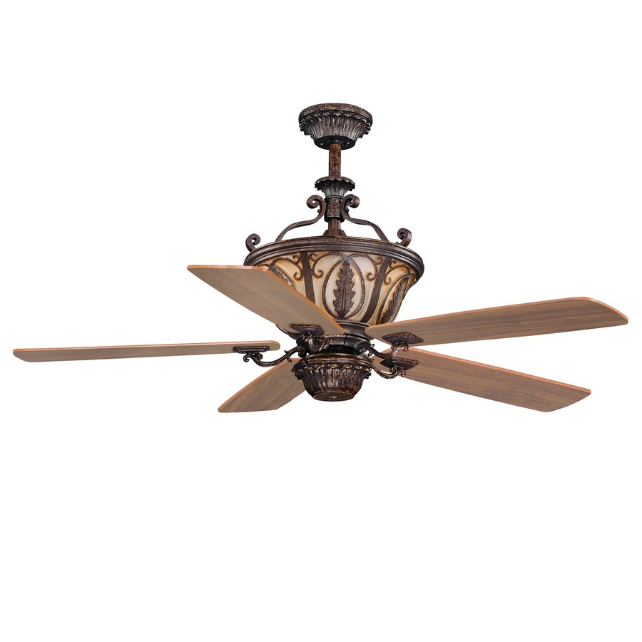 Cascadia Lighting Dynasty 56-in Forum patina Indoor Downrod Mount Ceiling Fan and Remote