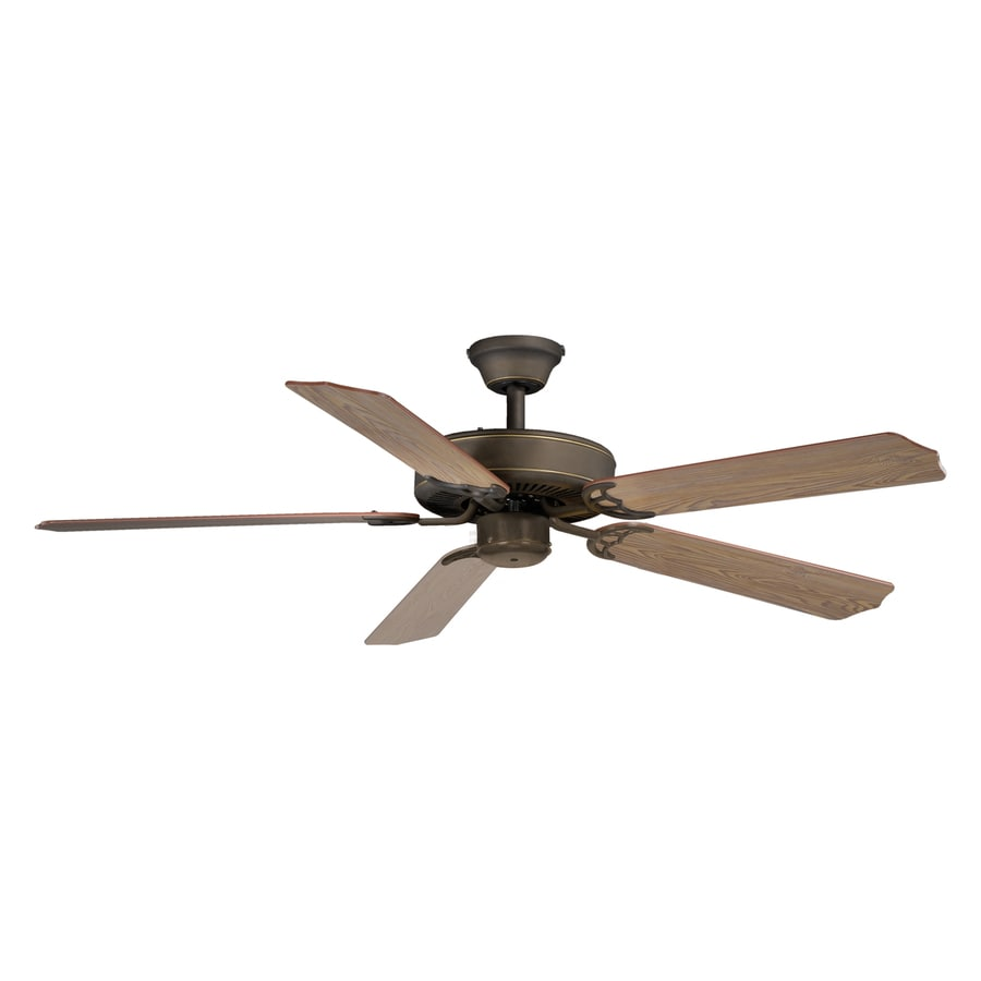 Cascadia Lighting Medallion 52-in Oil Rubbed Bronze Downrod Mount Indoor Ceiling Fan (5-Blade)