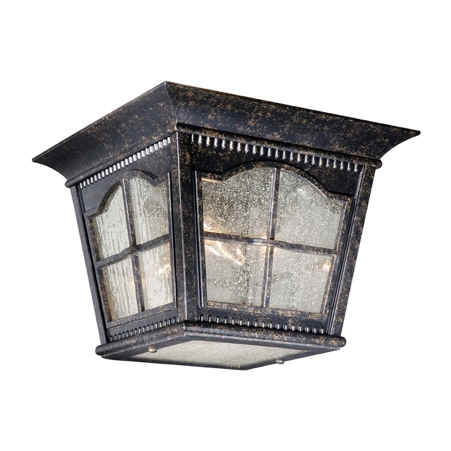 Cascadia Lighting Arcadia 10.75-in W Burnished Patina Outdoor Flush-Mount Light