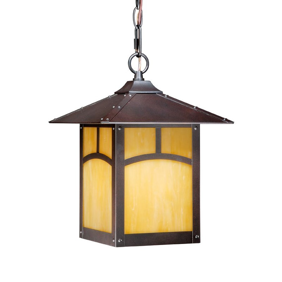 Cascadia Lighting Taliesin 12.875-in Espresso Bronze Hardwired Outdoor Pendant Light
