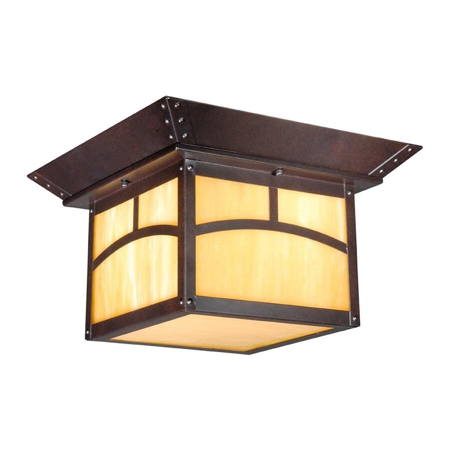 Cascadia Lighting Taliesin 11.5-in W Espresso Bronze Outdoor Flush-Mount Light