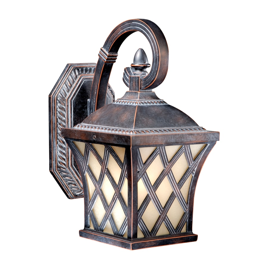 Cascadia Lighting Yorkshire 11.5-in H Coffee Patina Outdoor Wall Light