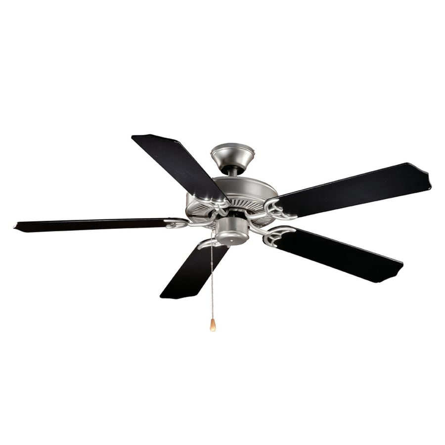 Cascadia Lighting Medallion 52-in Flash silver Indoor Downrod Mount Ceiling Fan