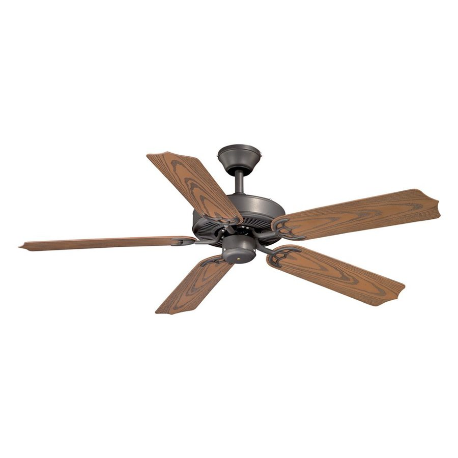 Cascadia Lighting Medallion 52-in Noble Bronze Downrod Mount Indoor/Outdoor Ceiling Fan (5-Blade)
