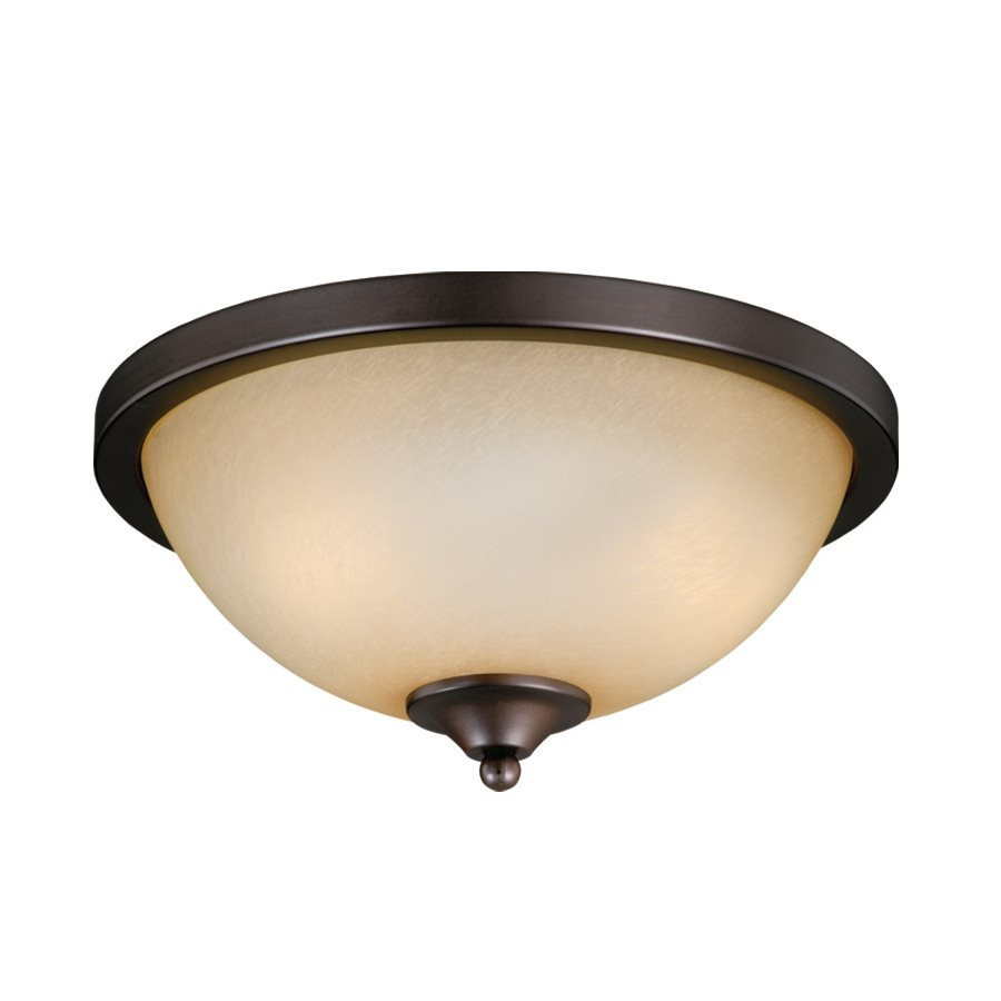 Cascadia Lighting 2-Light Oiled Burnished Bronze Fluorescent Ceiling Fan Light Kit with Frosted Glass