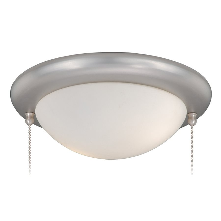 Cascadia Lighting 2-Light Brushed Nickel Fluorescent Ceiling Fan Light Kit with Frosted Glass