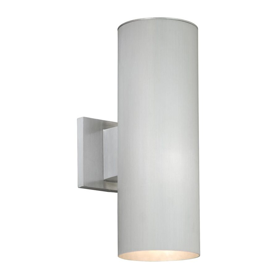 Cascadia Lighting Chiasso 14.25-in H Satin Aluminum Outdoor Wall Light
