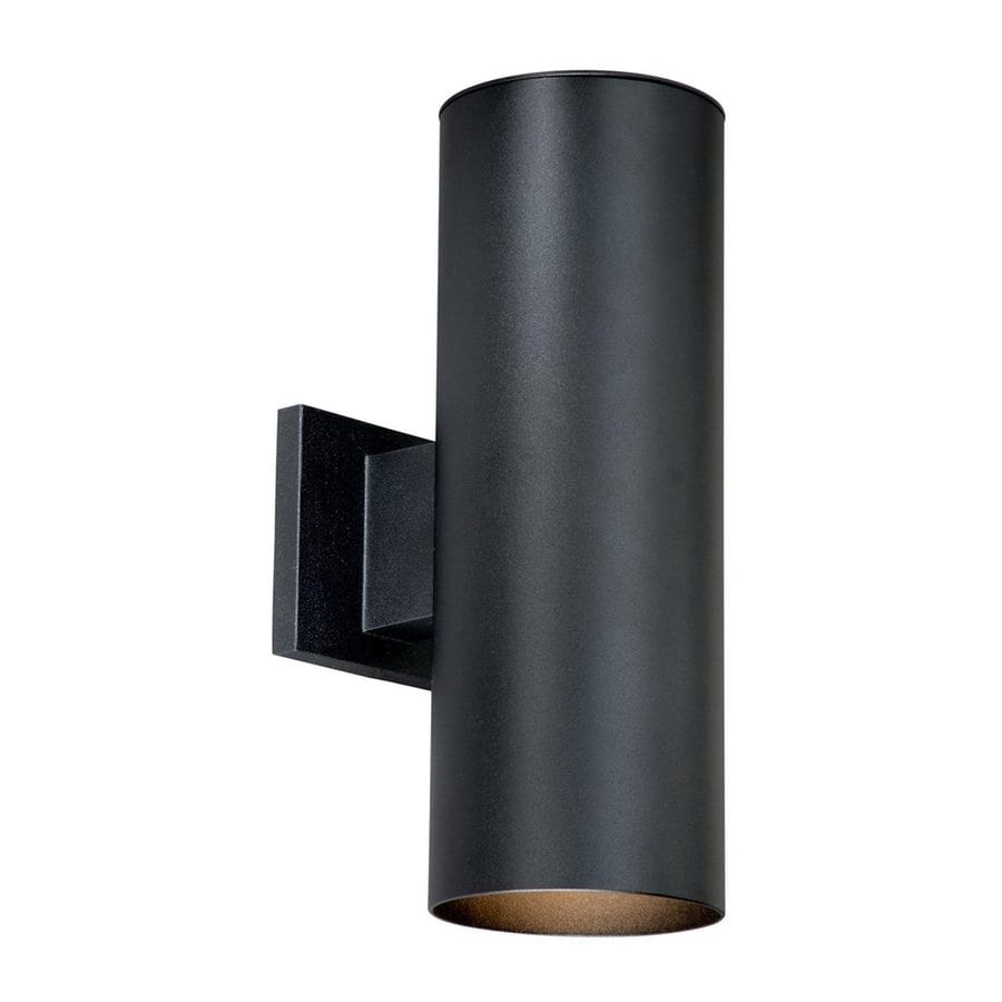 Cascadia Lighting Chiasso 14.25-in H Textured Black Outdoor Wall Light