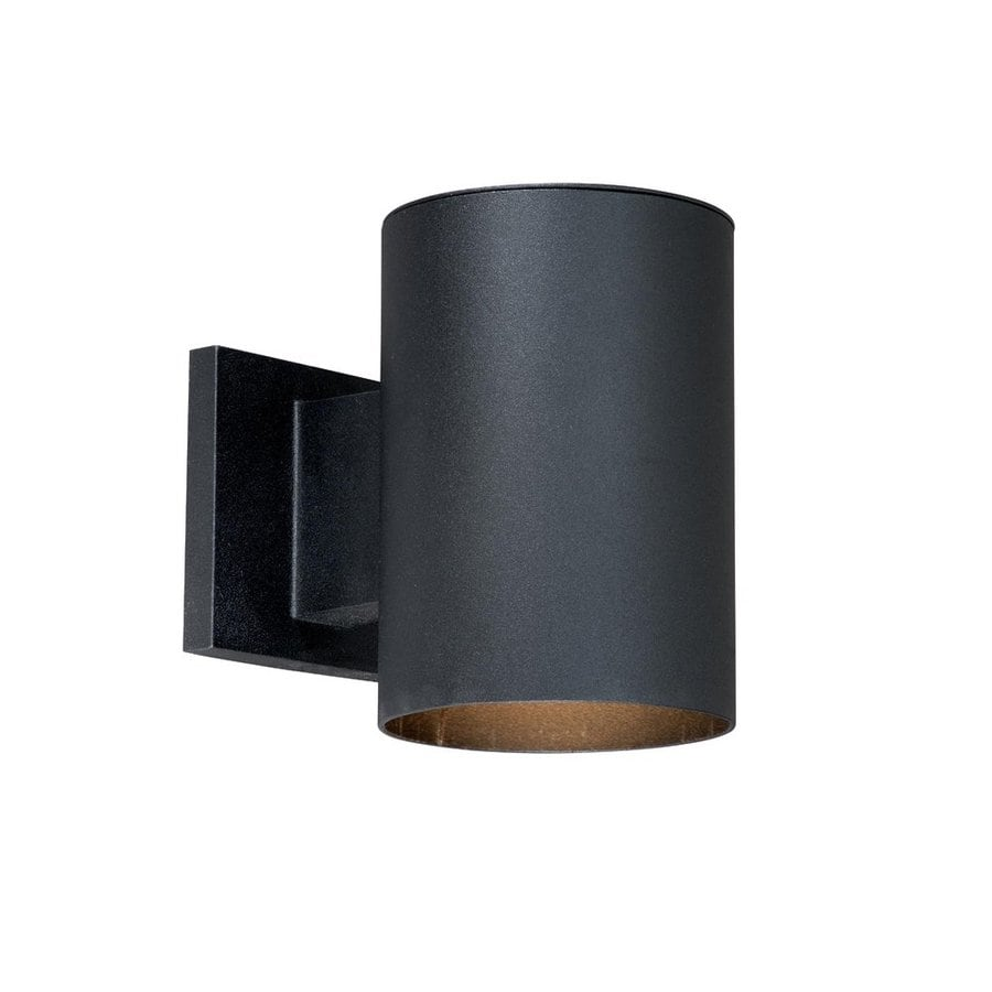 Cascadia Lighting Chiasso 7.25-in H Textured Black Outdoor Wall Light
